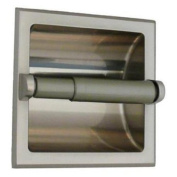 Classic Hardware Recessed Toilet Paper Holder with Rear Mounting Bracket - Satin Nickel