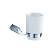 Fluid Faucets FA11011 Fan Ceramic Wall-Mounted Tumbler and Holder, Chrome, 1-Pack