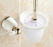 MKL Toilet Brush and Holder, white+gold #MKL02A