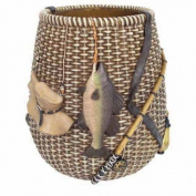 Blonder Home Accents Expressions Rather Be Fishing Wastepaper Basket