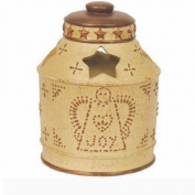 Blonder Home Accents Expressions Punch Tin Toothbrush Holder