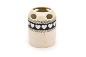 Polish Pottery Cupid Toothbrush Holder