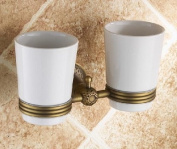 AST Double Tumbler Holder,Brass construction in Antique Bronze #AST05