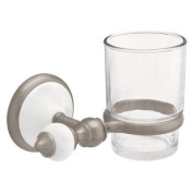 Bath Unlimited Alexandria Satin Nickel and Ceramic Tooth and Tumbler 62314SN