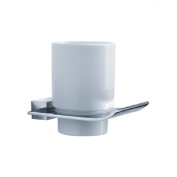 Fluid Faucets FA13011 Sublime Wall-Mounted Ceramic Tumbler and Holder, Chrome, 1-Pack