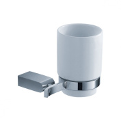 Fluid Faucets FA14011 Emperor Wall-Mounted Ceramic Tumbler and Holder, Chrome, 1-Pack
