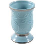 Saturday Knight LTD Seafoam Blue Ceramic Bathroom Tumbler