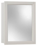 NuTone 755459 Sheridan Framed Medicine Cabinet, Classic White Wood, Surface Mount, 38cm By 48cm