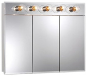Broan-NuTone 755443 Ashland Lighted Frameless Medicine Cabinet with Five Bulbs