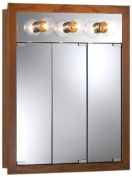 Broan-NuTone 755395 24 by 80cm by 12cm Granville Lighted Medicine Cabinet with Three Bulbs, Honey Oak