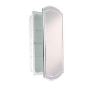 Headwest V-Groove Bevelled Mirror Recessed Medicine Cabinet, 41cm by 80cm