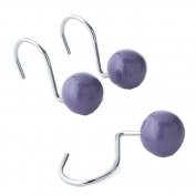 Shimmer Stripe Purple Shower Curtain Hooks