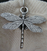 12 Dragonfly Shower Hook Add-on - Antique Silver Electroplate Finish - ** Free roller bead chrome Shower Curtain Hooks with Purchase