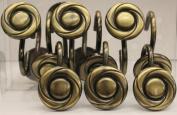 Avalon Bronze Set of 12 Shower Hooks