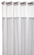 Hookless Mystery Snap-In Peva Liner Fabric Shower Curtain