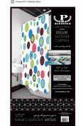 Deluxe Shower Curtain- Rainbow Circles