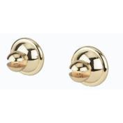 Alno A9246-PB Yale Shower Rod Traditional Brackets, Polished Brass