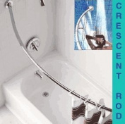 Curved 1.5m Shower Rod, chrome