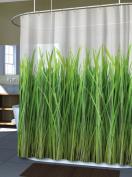 Splash Home EVA Shower Curtain, 180cm by 180cm , Grass Green