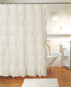 Gypsy Shabby Chic Bouffant Crushed Sheer Shower Curtain Extra Long