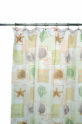 Famous Home Fashions Seaside Shower Curtain, Sage