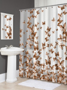 Splash Home EVA Shower Curtain, 180cm by 180cm , Light Flight Copper