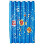 Jumping Beans Blast Off Fabric Shower Curtain