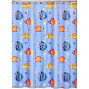 Saturday Knight LTD Fish Playground Shower Polyester Curtain, 180cm x 180cm