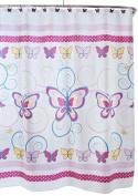 SAM HEDAYA Butterfly Shower Curtain, Print