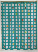 Blue Domino Shower Curtain