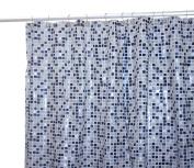 Famous Home Fashions Tiles Vinyl 5-1/2-Gauge Shower Curtain