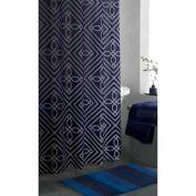 Apt 9 Blueprint Geo Fabric Shower Curtain Pretty Blue Geometric Bath