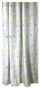Ricardo Bethany Beach Fabric Shower Curtain, Silver/Soft Yellow, 72 X 72 Long