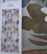 Paradise Tropical Foiliage & Flowers Fabric Shower Curtain