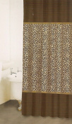 LEOPARD PRINT FABRIC SHOWER CURTAIN By Famous Home Fashions 180cm x 180cm