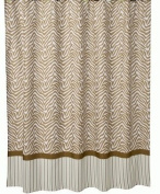 Tiddliwinks Madagascar Shower Curtain - Brown/ White