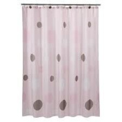 Tiddliwinks Shower Curtain - Mod Pink/ Brown