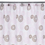 Tiddliwinks Pink Dots Butterfly Shower Curtain