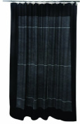 Famous Home Fashions Granite Shower Curtain, Black