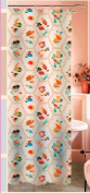 Fishes Frosted PEVA Shower Curtain 71wX74L