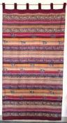 Handloom Cotton Paisley Stripe Curtain