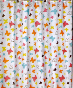 Flutterby Butterfly Fabric Shower Curtain