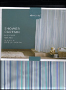 Shower Curtain Blue Stripe 180cm X72in Fibre 100% Peva