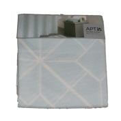 Apt 9 Blue Mosaic Fabric Shower Curtain Pretty Geometric Bath