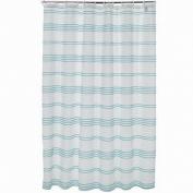 Apt 9 Blue Mosaic Stripe Fabric Shower Curtain Pretty Striped Bath
