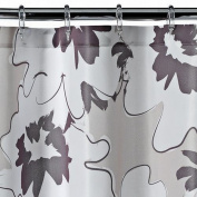 Apt 9 Brown Floral Fabric Shower Curtain Pretty Flower Bath