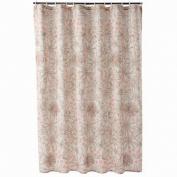 Apt 9 Pretty Peach & Brown Flower Trace Fabric Shower Curtain Floral Bath