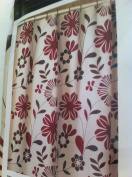 Blonder Home Contempo Floral PEVA Shower Curtain with Metal Grommets
