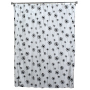 Chooty Dandelion White/Black Shower Curtain, 180cm by 180cm , Multicoloured