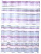 Delaney Stripe Pastel PEVA Bathroom Shower Curtain